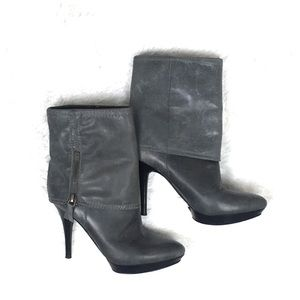 Nine West Leather Fold-Over Booties